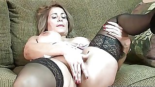 Mature slut Sandie Marquez plays with her Latina puss