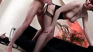 Mature stylish stocking brit fuck internal cumshot