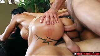 Big ass mature three way sex group sex and rubdown