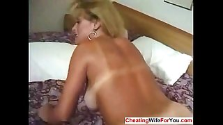 Mature blond gets anal