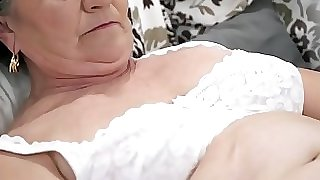 Old unshaved pussy filled with young trouser snake