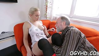 petite young vixen rides old dong